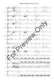 oompa loompa song piano sheet music tina folsom fugue et