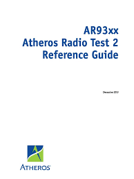 Radio Frequency Reference Guide Ar93xx Art2 Reference Guide Mkg 15527 Graphical User Interfaces