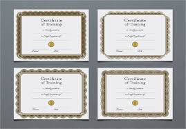 8 training certificate example u0026 samples
