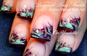 marble nail art with water choice image nail art designs