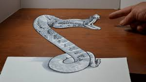 drawing a 3d rattlesnake cool anamorphic trick art optical