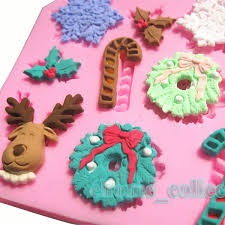 Christmas Cake Decorations To Buy by Aliexpress Com Buy 9pcs Blanks Christmas Cake Decor Baking Mould
