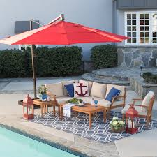 11 Cantilever Patio Umbrella With Base by Belham Living 13 Ft Sunbrella Rotating Offset Umbrella With Tilt