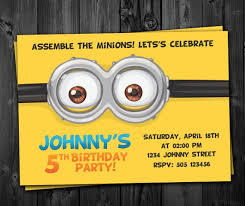 diy minion invitations birthday invitations