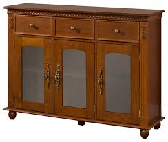 wooden and glass doors wooden sideboard with storage and glass doors walnut
