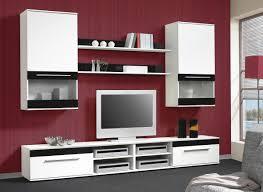 Wohnzimmerschrank Ohne Tv Fach Wohnwand Fargo 2 Weiß Schwarz U0026 9654 Online Bei Poco Kaufen