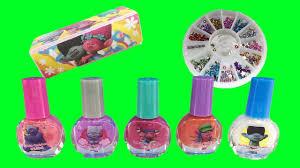 dreamworks trolls nail polish gem buffer fun kids manicure set