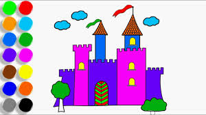 learn colors kids castle coloring book