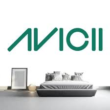 wall stickers art wall decals 30 colours sizes in every design avicii logo artist name dj producer music wall stickers home decor art decals