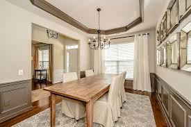 Eclectic Dining Room With Crown Molding  Wainscoting In Cornelius - Dining rooms with wainscoting
