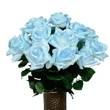 Teal Roses Flowers For Cemeteries Inc