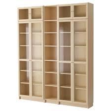 Ikea Bookcases With Doors Billy Oxberg Bookcase Birch Veneer Ikea