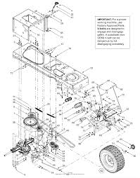 mtd 13af607g352 2002 parts diagram for drive controls rear wheels