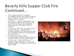 Beverly Hills Supper Club Floor Plan History Of Fire And Fire Codes Ppt Download