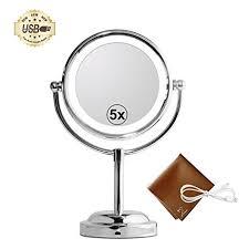 Makeup Vanity Mirror With Lights Amazon Com Mirror With Lights My Canary Led Makeup Mirror With