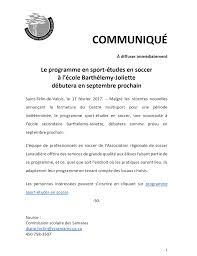 bureau virtuel commission scolaire laval école secondaire barthélemy joliette