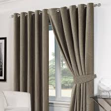 luxury ring top eyelet chenille lined thermal ready made curtains