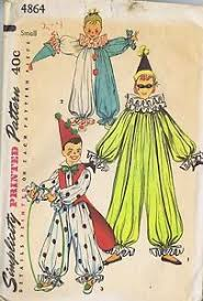 Halloween Costumes Sewing Patterns Jester Hobo Clown Costumes Simplicity 7117 Sewing Pattern Sewing