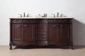 stufurhome 72 inch saturn double sink vanity with travertine