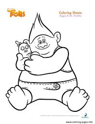 Print Biggie And Mr Dinkles Trolls Coloring Pages Trolls Princess Stencil Free Coloring Sheets