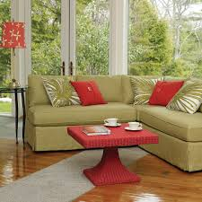 splashy armless loveseat in dining room traditional with next to