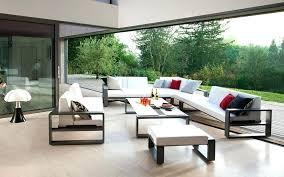canape d exterieur design cheminee terrasse canape design confortable table basse canape d