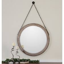 Uttermost Mirrors Free Shipping Uttermost Loughlin Round Wood Mirror 34w X 34h In Hayneedle