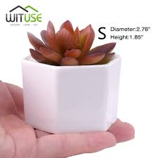 Cute Flower Pots by Online Shop Wituse 4x Cute Flower Pots Container Glazed White