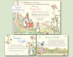 peter rabbit etsy peter rabbit baby shower invitation beatrix potter birthday party invite bring book diaper raffle styles printed digital