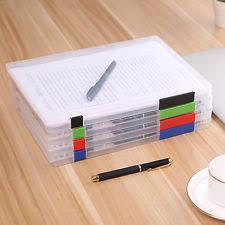 Desk Storage Containers A4 Paper Document Cases Plastic File Organizers Storage Containers