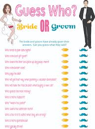 wedding shoes questions printable bridal shower guess who idealpin