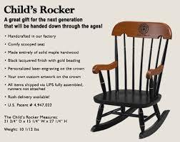 Toddler Rocking Chairs Child U0027s Rocker Buy In Gardner On English