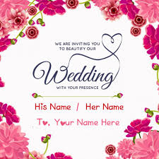 wedding wishes editing inviting name greeting card editing online