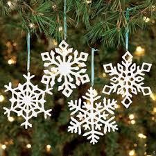 ornaments resin iridescent snowflake ornaments