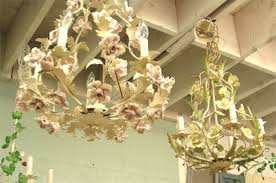 italian porcelain roses chandeliers in italian tole with procelain roses you light up
