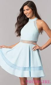 light blue dress light blue homecoming party dress promgirl