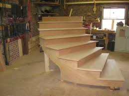 methods and materials for an outdoor curved stair
