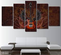 aliexpress com buy 5 piece canvas art abstract guitar painting
