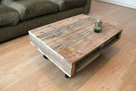 reclaimed wood coffee table with wheels on wheels small wood coffee table by gas air studios