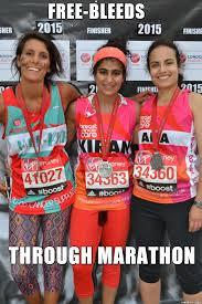Running Marathon Meme - 26 year old woman proudlky free bleeds through her first marathon
