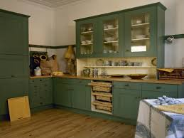 primitive painted kitchen cabinets