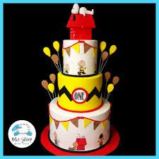 charlie brown thanksgiving theme charlie brown and snoopy 1st birthday cake nj u2013 blue sheep bake