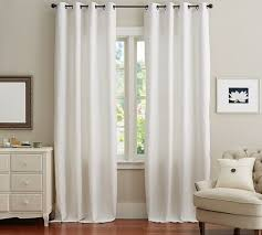 emery linen cotton grommet drape pottery barn