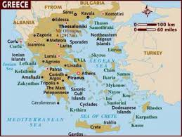 Greece On Map by Ancient Greece By Polly Medlin