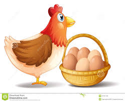 hen with egg clipart clipartxtras