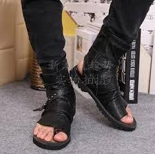 summer motorcycle boots 2016 summer toe knob men sandals gladiator men summer motorcycle