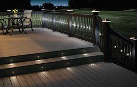 Exterior Led Strip Lighting White Outdoor Led Strip Stair Lights For A Patio With Wood Deck