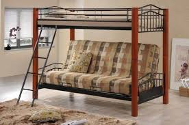 Futon Bunk Bed Wood Coaster Haskell Metal And Wood Casual Futon Bunk Bed