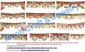 indian traditional door hanging wholesale embroidered toran