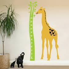 baby height chart wall giraffe height chart wall sticker children s room